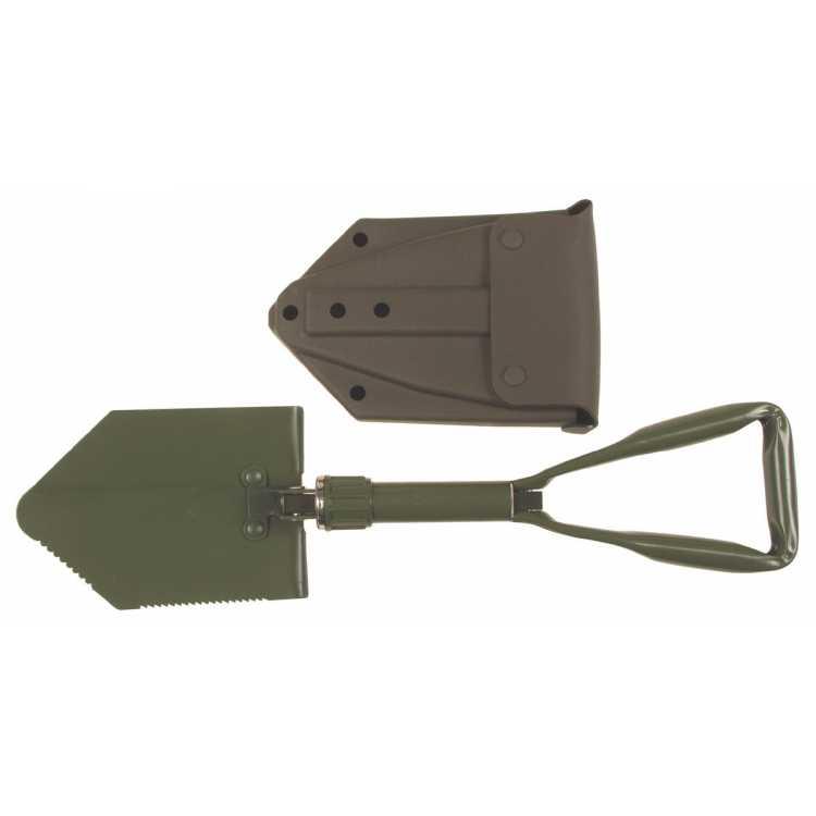 Klappspaten, neues BW Modell, 3-tlg., mit Tasche