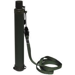 "Water conditioner, ""filter pen"" with activated carbon filter, olive"