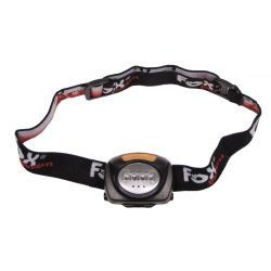 Headlamp, 4 LED white, 3 LED red, foldable, black