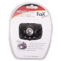 Stirnlampe, 1 Watt Luxeon, 1 LED weiß, 2 LED rot
