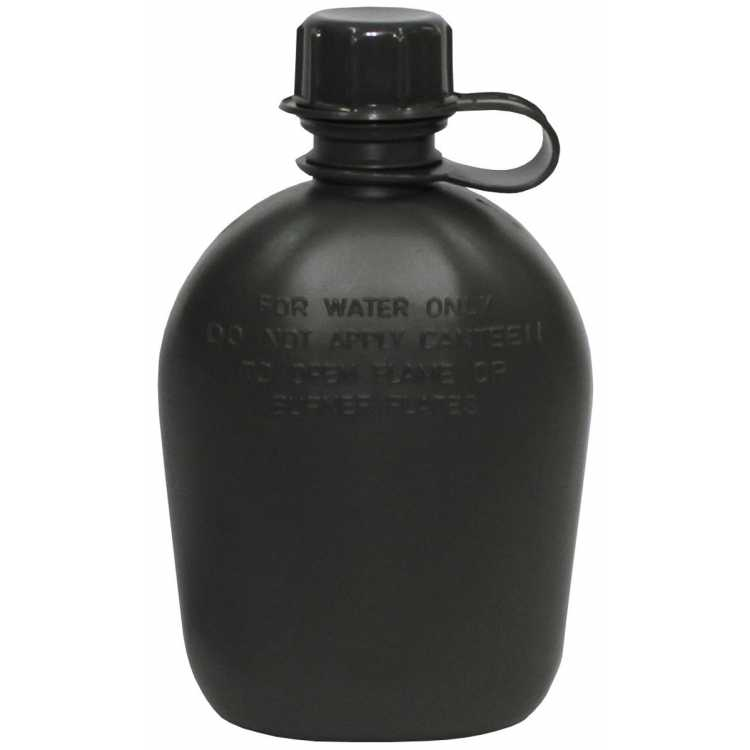 Plastic canteen, olive, 1 liter, BPA-free