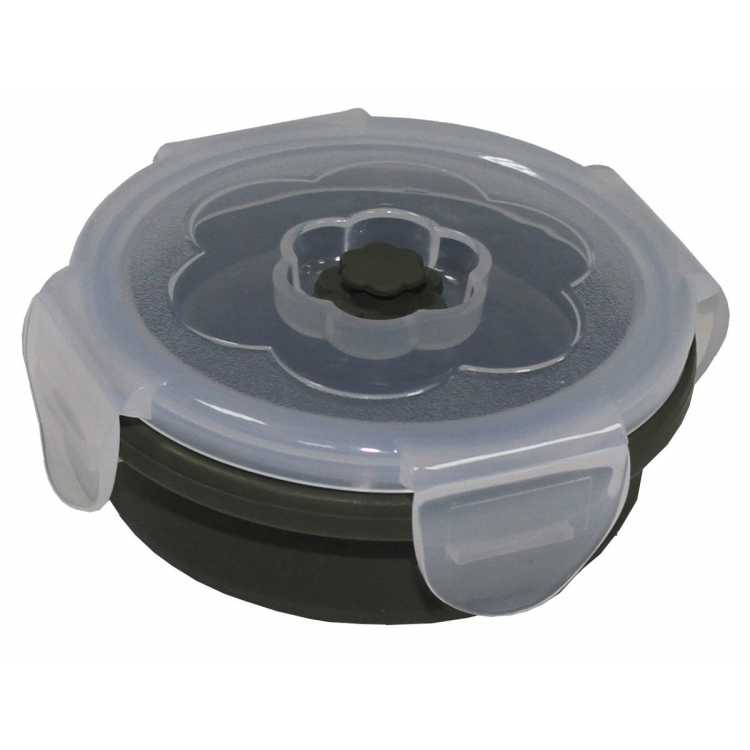 Lunchbox, faltbar, oliv, 240 ml, mit Deckel, Silikon