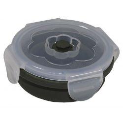 Lunchbox, faltbar, oliv, 540 ml, mit Deckel, Silikon