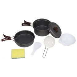 Cookware, aluminum, anodized, small