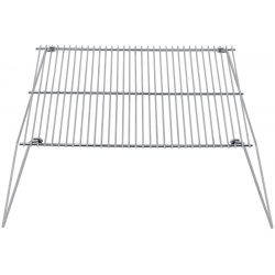 Grill grate, steel, foldable, 38 x 25 cm