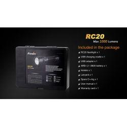 Fenix RC20 LED flashlight with charging station