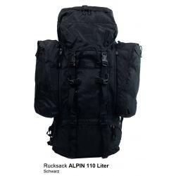 BW Rucksack Alpin 110 L, mit 2 abnehmbaren Seitentaschen