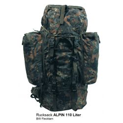 MFH Sac à dos Alpin 110 2 Amovible Poches Latérales