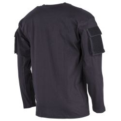 T-shirt, long-sleeved, with 2 sleeve pockets