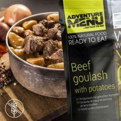 Rindergulasch mit gekochten Kartoffeln - Adventure Menu