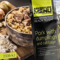 Schweinebraten mit Sauerkraut und Knödeln - Adventure Menu
