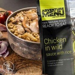 Wild game chicken with rice - Adventure Menu