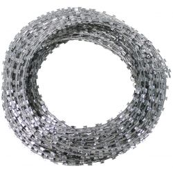 Nato wire - barbed wire - Razorwire, galvanized metal, approx. 50 m