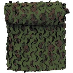 Brit. Camouflage net, 3 x 2 m, DPM, with net, flame retardant