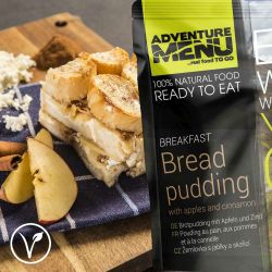 Brotpudding mit Äpfeln und Zimt - Adventure Menu