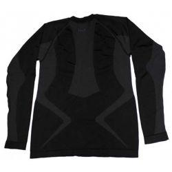 Thermal sport functional undershirt, long-sleeved, black