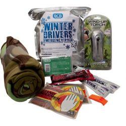 Winter car emergency package