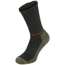 "Trekking socks, ""Lusen"", olive, terry sole"