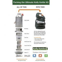 Ultimate 'Base Camp' Kit Edelstahl, Kelly Kettle