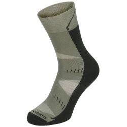 """Trekking socks, """"Arber"""", padded sole, olive"""