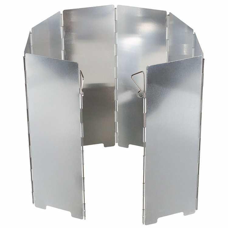 Kocher windscreen, aluminum, foldable, 24cm