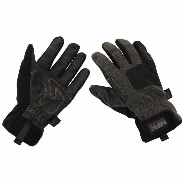 """Gloves, """"Cold Time"""", wind resistant, gray"""
