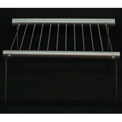 Cooking grate, pluggable, stainless steel, 26 x 25 cm