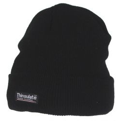 Rolled cap, knitted, short, Thinsulate lined