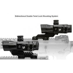 UTG SCP-T4IEMDQ Prismatic 4X32 T4 Rifle Scope, 36-Color, Mil-Dot