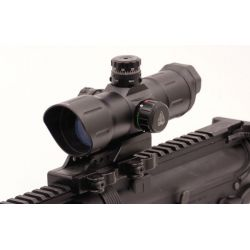 UTG Tactical Red Dot Laser Sight 6 Inch ITA Red/Green Dot Sight with/CQB Offset QD Mount, SCP