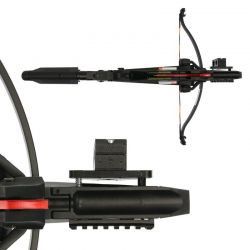 X-BOW FMA torch / laser holder - adjustable - suitable for EK Archery Cobra R9, RX & Adder