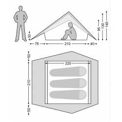 Nordisk Faxe 3 PU - 3 Personen Zelt