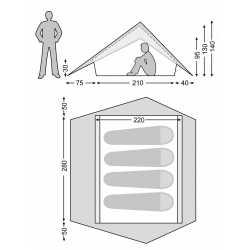 Nordisk Faxe 4 SI - 4 Personen Zelt