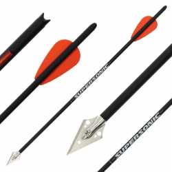 X-BOW FMA Supersonic - Broadheads - Carbonbolts 10 Pack