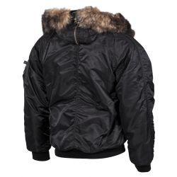 Polar jacket N2B, black, thickly lined