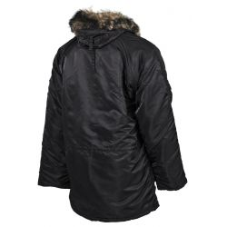 Polar jacket N3B, black, lined