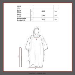 US poncho, rip stop, mod., Black, size 144 x 223 cm