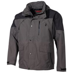 "Outdoor jacket, ""High Mountain"" black / gray"