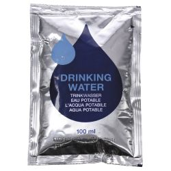 "Drinking water, ""Emergency"", pack with 5 x 100 ml bags"