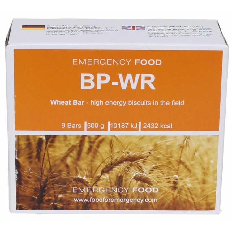 """Emergency food """"BP-WR"""", wheat bar, 500 g"""