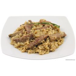 Sliced beef with rice, fully canned, 400 g