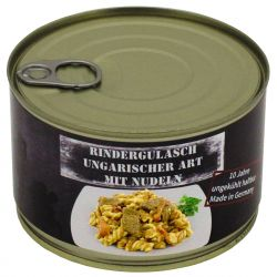 Hungarian beef goulash with noodles, fully canned, 400 g