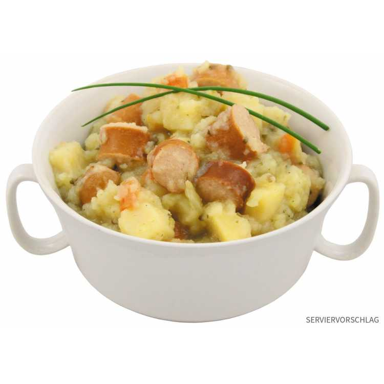 Potato soup with Wiener sausage. Fully preserved, 400 g