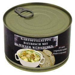 Potato soup with Viennese sausage. Fully canned, 400 g