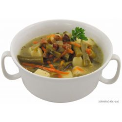 Bean stew with bacon, fully canned, 400 g