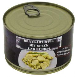 Fried potato w. Bacon and egg, canned, 400 g
