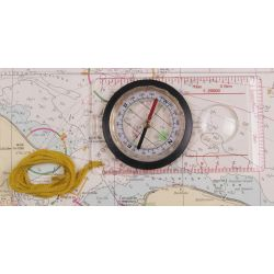 Karten-Kompass, Plastikgehäuse, Lupe, Messeinrichtung