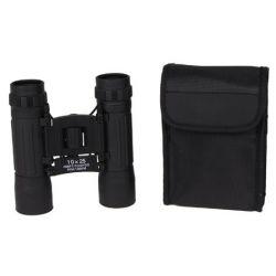 Binoculars, foldable, 10 x 25, Ruby lens, bag