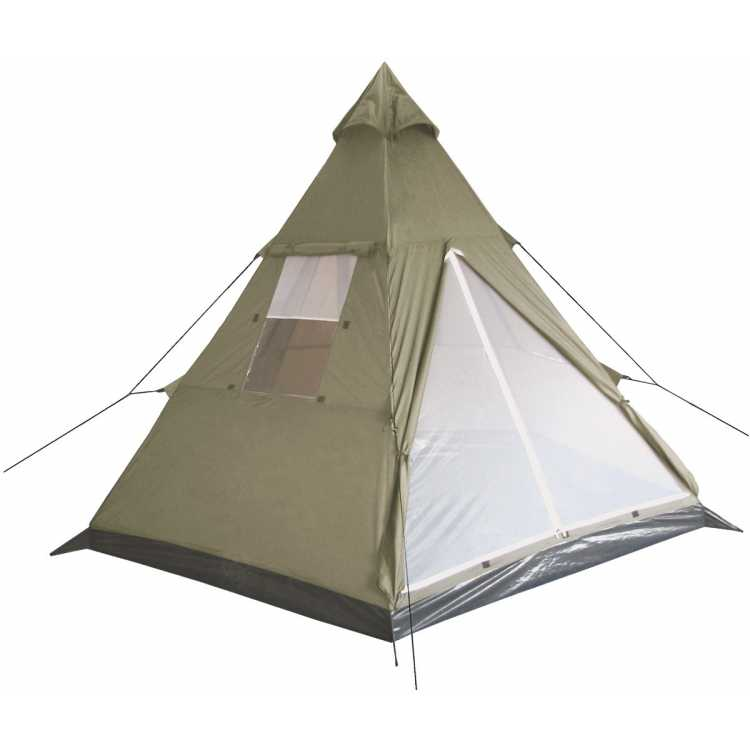 """Indian tent, """"tipi"""", olive, middle mast, size 290x270x225 cm"""