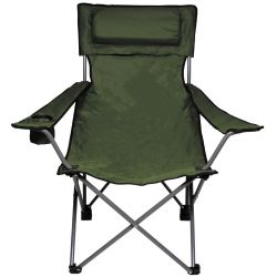 Folding chair, deluxe, back and armrest